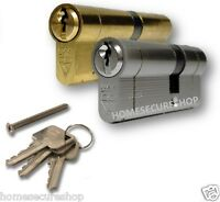 Euro Cylinder Lock Door Barrel UAP Kitemarked Snap Secure Anti Drill, Anti Pick