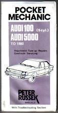 AUDI 100 & 5000 AL 1980 TASCA MECCANICO adeguamento debuttato Peter russek manuale