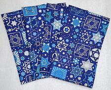 Set of 4 NAVY Jewish Judaica Napkins with Stars of David