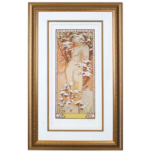 """""""WINTER"""" by ALPHONSE MUCHA, Print Signed and Numbered"""
