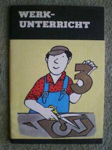 Werkunterricht 3. Klasse - DDR Schulbuch Werken, Baukästen