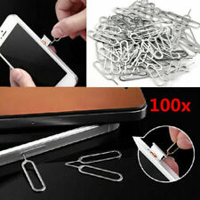 100Pcs Sim Card Tray Remover Eject Ejector Pin Key Tool for cellphone