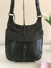"Radley ""Newbridge"" Dark Green Leather Medium Messenger Shoulder Bag/Handbag"