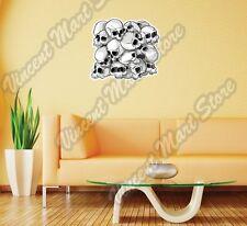 """Human Skull Horror Fright Dead Death Bone Wall Sticker Room Interior Decor 22"""""""