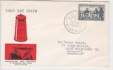 Stamp Australia 1959 Birth of Post Office 4d blue on Guthrie specific cachet FDC