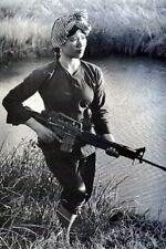 Female Viet Cong Warrior Woman 4x6 Vietnam War Photo 100