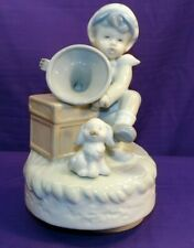 Global Art Music Box Boy Wind Up Victrola & Dog Plays My Old Kentucky Home