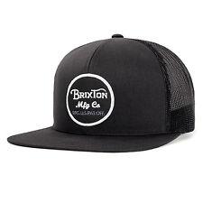 Brixton Mens Wheeler Mesh Cap Hat Black black O s 3e9faf6a1ba4