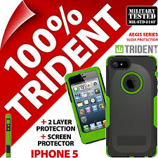 New Trident Aegis Protective Heavy Duty Hard Case Rugged for Apple iPhone 5 Gree