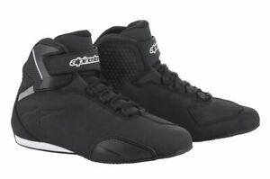Alpinestars Sektor Motorcycle Motorbike Shoes - Black(10)