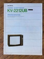 Operating Instruction Manual for Sony KV-2212UB Television Receiver  Free UK P&P