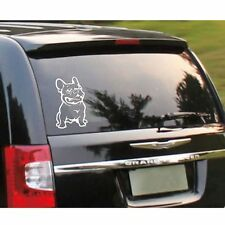 White Adhesive Decal Custom French Bulldog Dog Cars Stickers Vinyl Sticker