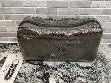 LeSportSac Rectangular Cosmetic Pouch zippered bag Small Foil Snake metallic Nwt