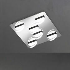 wofi LED Ceiling Light Estera 6-flg Chrome Acrylic Glass 35x35 Cm 30 Watt 2400