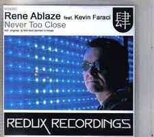 Rene Ablaze-Never Too Close promo cd 8 tracks