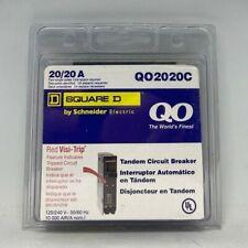 !! NEW !! Square D Schneider Qo 20-Amp 1-Pole Tandem Circuit Breaker QO2020C