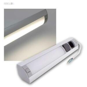 LED Eck-Unterbauleuchte Anbauleuchte mit 230V Steckdose Küchen-Unterschranklampe