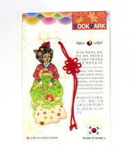 Traditional Korean reader Metal Bookmark - HanBok Style(Red and Green)