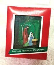 1988 Holy Family Miniature Hallmark Christmas Tree Ornament Price Tag