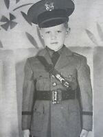 Vintage Boy in Uniform Photo Urban Military Academy Cadet Hollywood CA 1940-50s