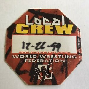 WWF World Wrestling Federation Backstage Crew Pass 1999