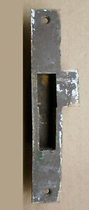 """1.25""""x8 Antique Vintage Old Cast Bronze Door Strike Striker Receiver Plate Catch"""