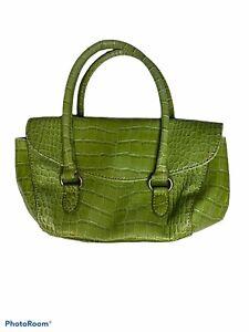 womens mini small green faux crocodile leather vtg y2k shoulder bag