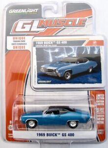 1969 Buick GS 400 hellblau metallic  /  Greenlight 1:64