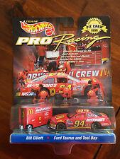 Hot Wheels Pro - Pit Crew 1998 Bill Elliott Ford Taurus & Tool Box