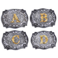 Men Initial Vintage Letters Rodeo Western Style Cowboy Belt Buckle Fashion HU
