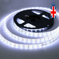 5m 5050 LED Strip Light White 300 Waterproof Flexible 12v Christmas Party UK I