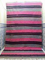 "Vintage Handmade Moroccan Kilim Rug Tribal Carpet Azilal Berber wool 9'8"" x 5'7"""