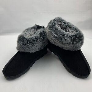 Jessica Simpson Womens Margot Bootie Slippers Black Memory Foam M 7-8 New