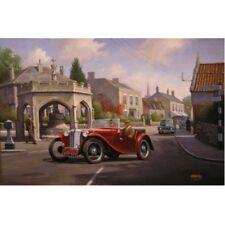 MG TC Cotswolds British Classic Voiture Vide Anniversaire Fête des Pères Carte
