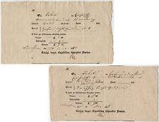 """Bayern 1839/40, 2 Postscheine """"Königl. bayer. Expedition fahrender Posten"""""""