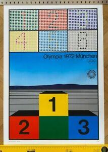 Kunstplakat / Poster Olympische Spiele München 1972 DIN A1