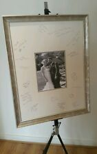 Wedding Photo Frame with Signature Double Mount. Ornate Silver Frame