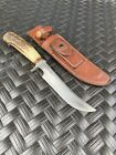 Vintage Randall Made Knives Model 3 6 Brown Button Heiser Sheath Pinned Handle