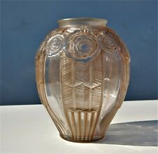 ANTIQUE VINTAGE AUTHENTIC SIGNED ANDRE HUNEBELLE MADE IN FRANCE - GLASS VASE
