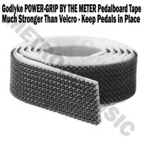 Godlyke POWER-GRIP Pedalboard Tape BY THE METER Hook Loop NEW