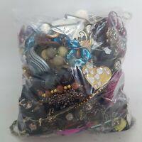 3kg BROKEN Costume Jewellery Mixed Job Lot Bundle For Craft Harvest Beads Repair