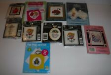 Lot of 10 Counted Cross Stitch Kits Sachet Stitch Hang Frame Bucilla NMI Paragon