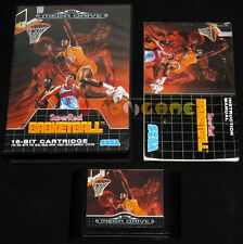 SUPER REAL BASKETBALL Mega Drive Genesis Md Versione Italiana 1990 •••• COMPLETO