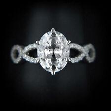 Ovale Ringe mit Diamanten für die Verlobung