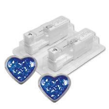 STUDEX Medizinische Ohrstecker Herz Glitter blau Ø4mm 1 Paar 7524-3566 System 75
