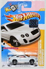 HOT WHEELS 2012 NEW MODELS BENTLEY CONTINENTAL SUPERSPORTS WHITE FACTORY SEALED