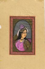 Indian Mughal Queen Paper Painting Art Miniature Handmade Moghul Ethnic