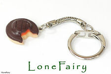 Polymer Clay Jaffa Cake Keyring Chocolate Key Chain