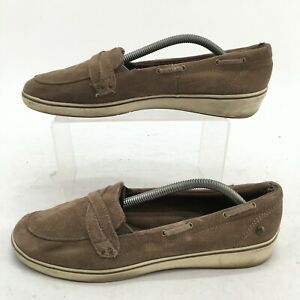 Keds Grasshoppers Windham Loafers Womens 7.5 Brown Suede Casual Slip On Shoes