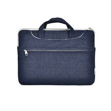 "Denim Fabric Blue Sleeve Bag Case for All 13"" Macbook /Air /Pro /Chromebook"